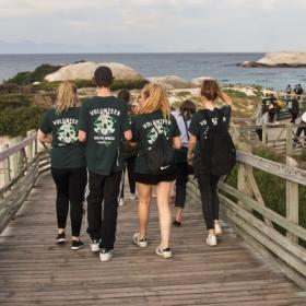 Projects Abroad volunteers exploring the seaside in Cape Town, South Africa.